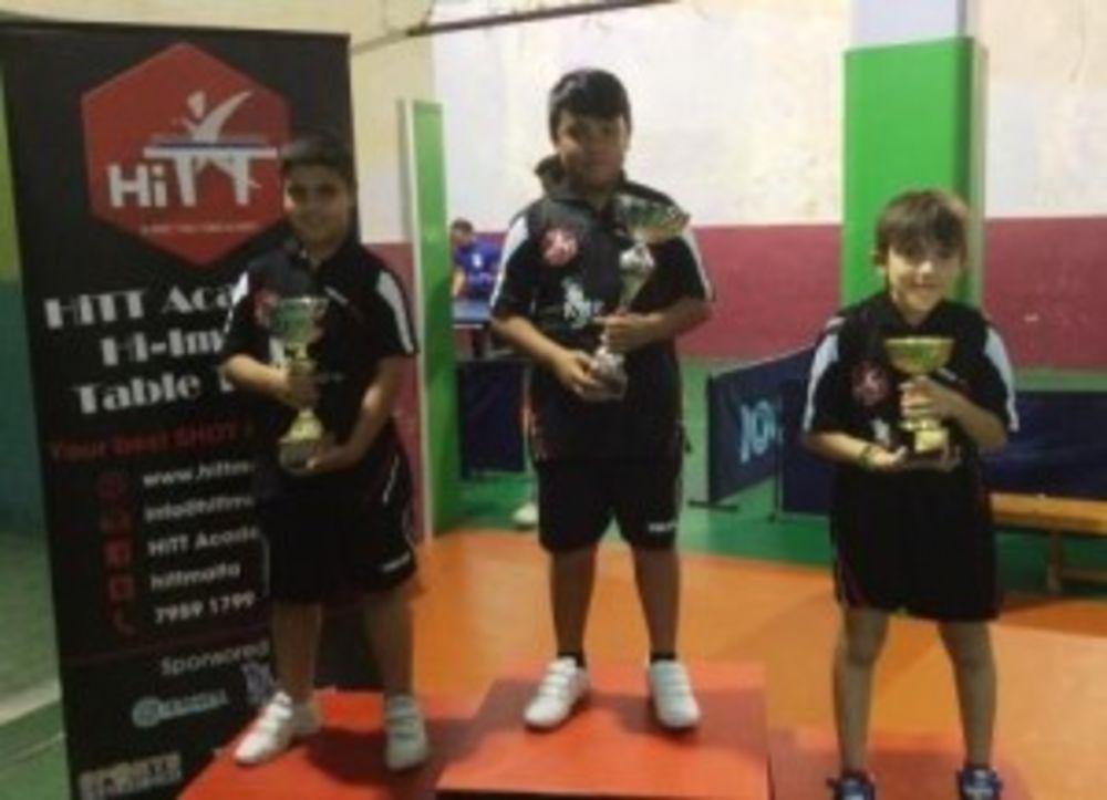 winners of the Mini Cadets group - HiTT Kristal 5th Ranking Tournament