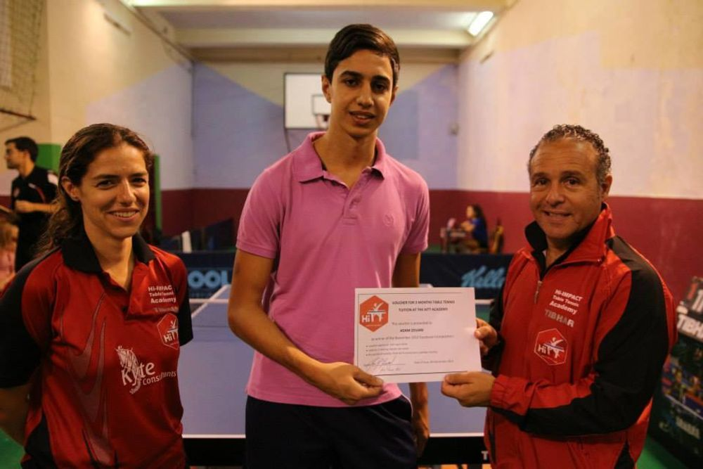 Adam Zouari winner of 3 months coaching at HiTT Academy
