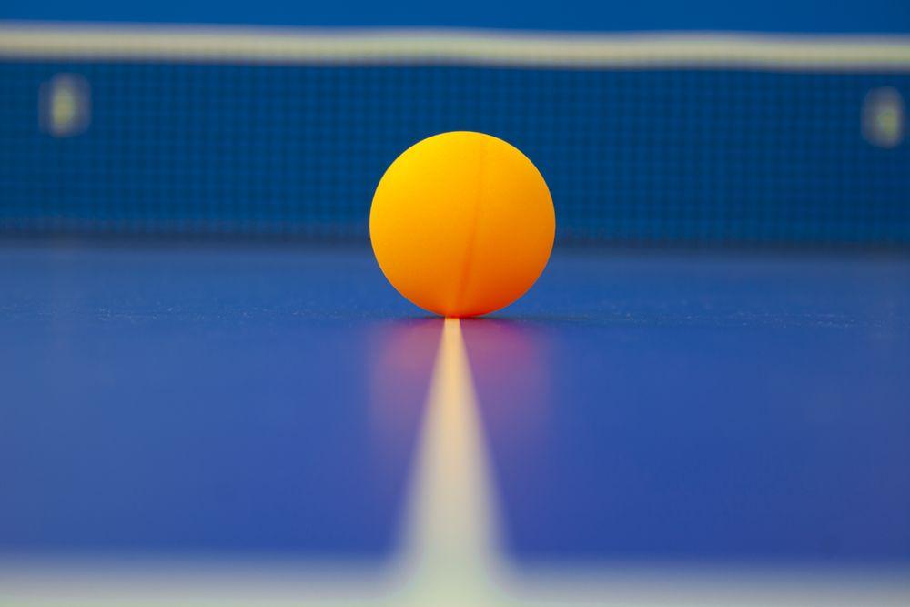 table tennis ball on table