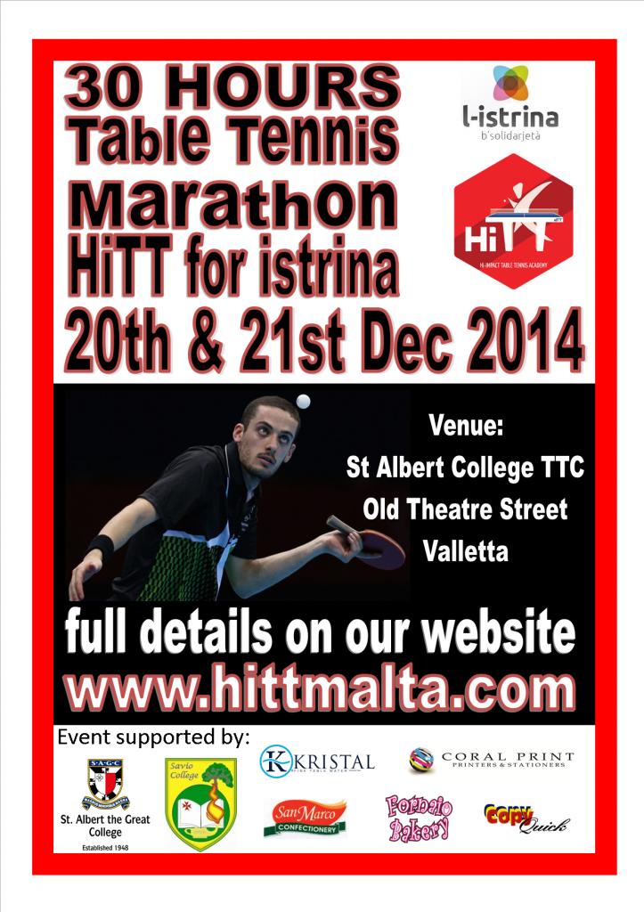 HiTT for istrina table tennis marathon 2014