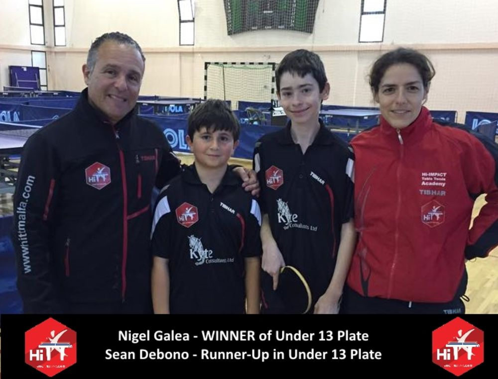 Under 13 Plate Winner & Runner Up