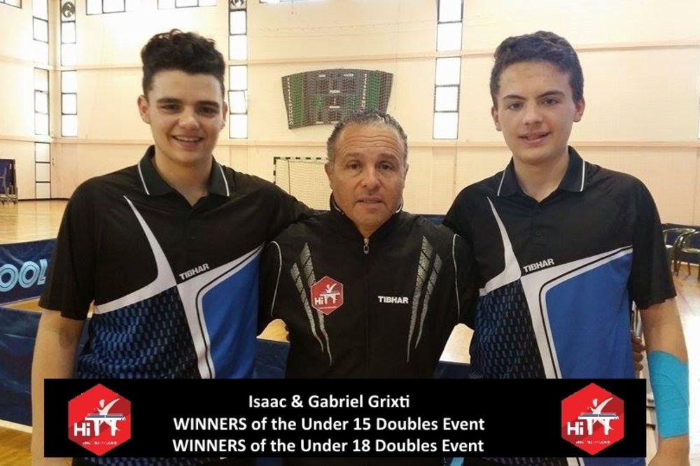 Under 15&18 Doubles Winners