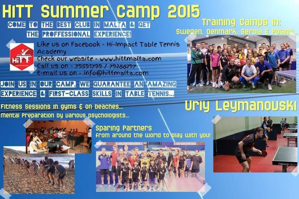 summer camp 2015 table tennis malta