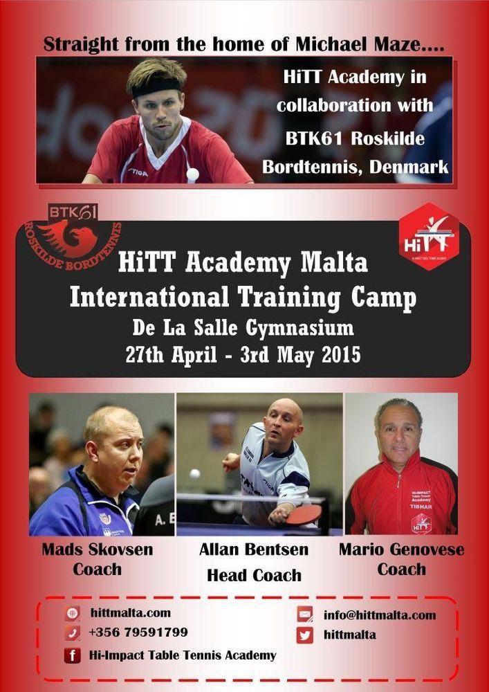 Mario Genovese Alan Bentsen Mads Skovsen HiTT Training Camp April 2015 Malta