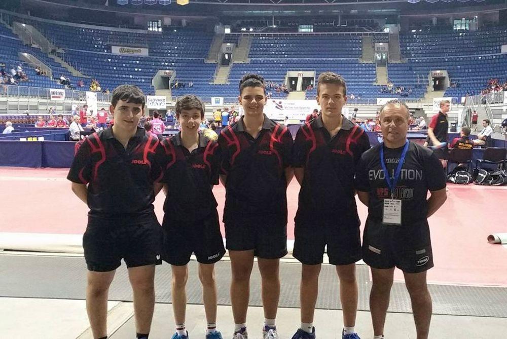 Malta Cadet Team for Junior European Championships, Bratlisava June 2015