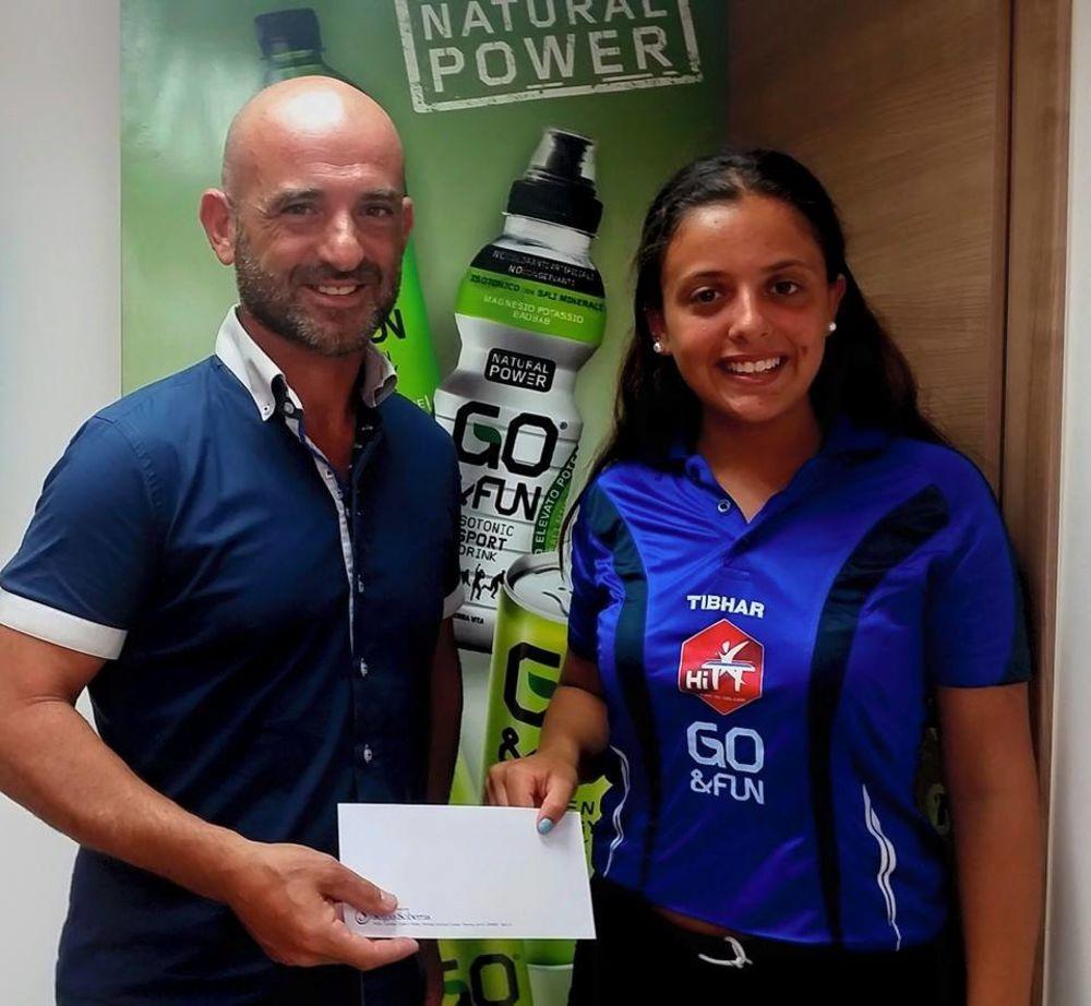 Sascha Genovese presented with GO&FUN sponsorship