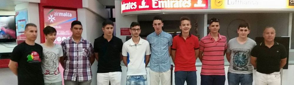 Cadet and Junior Malta team with coaches Mario Genovese and David Pace