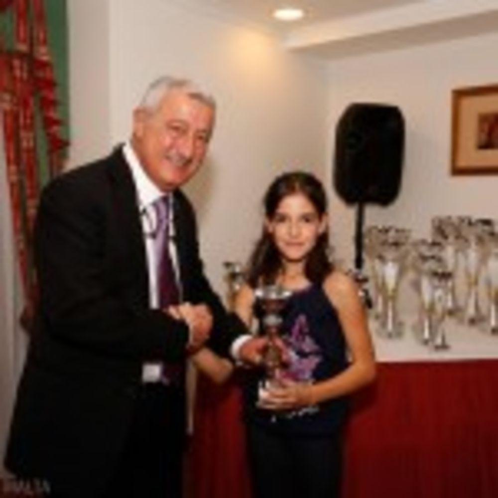 Rachel Mifsud with MTTA President Alex Anastasi