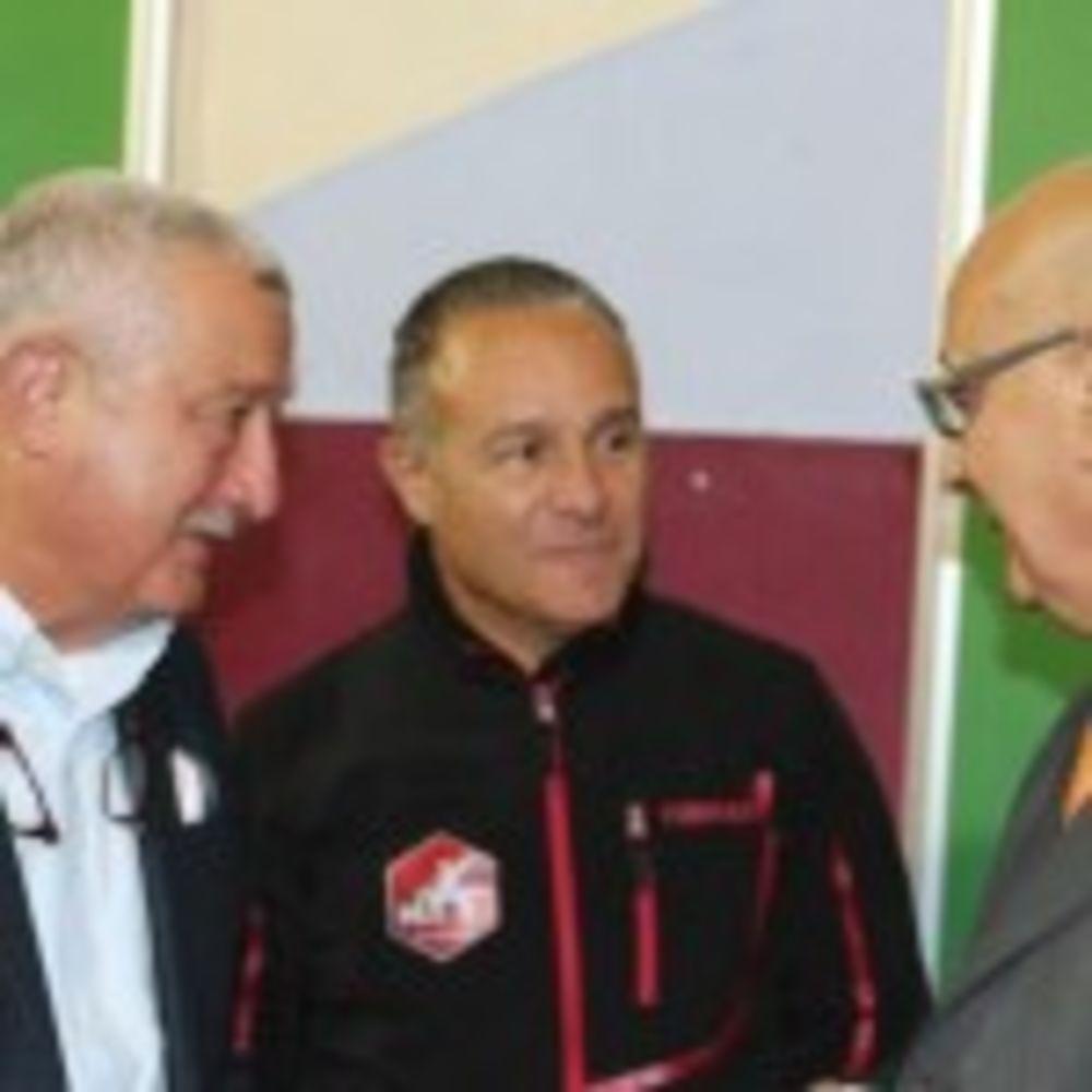 MTTA President Alex Anastasi, HiTT Head Coach Mario Genovese, Malta's Presidential Representative Mr Edgar Preca