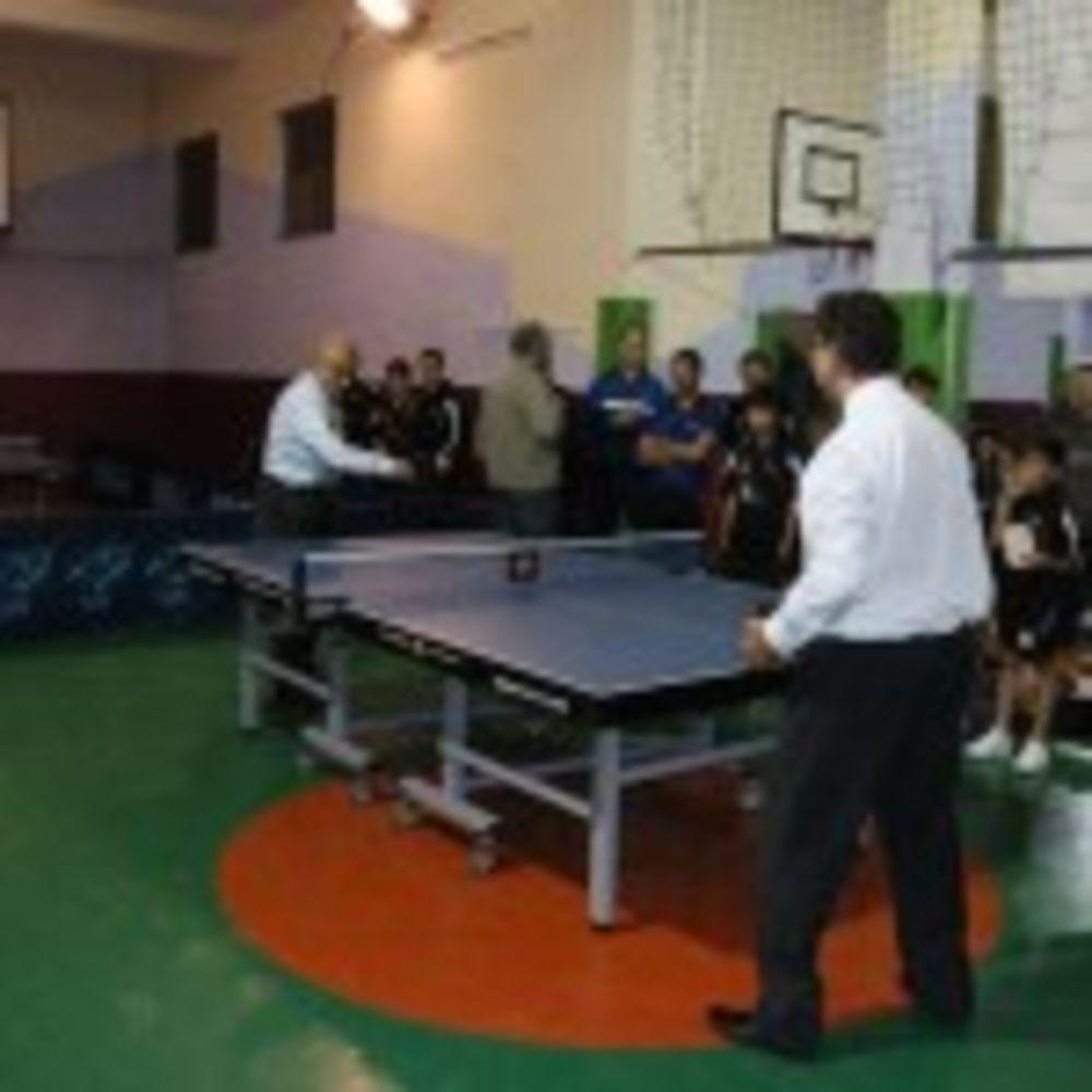 friendly match among dignitaries