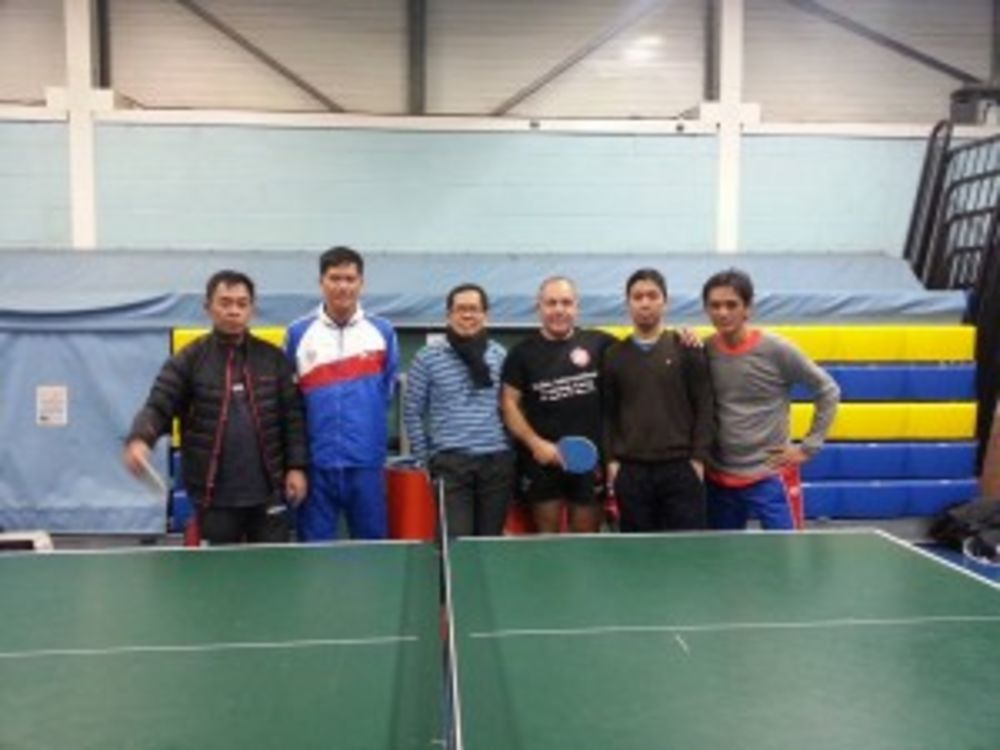 Philippines team with defence machine Richard Gonzalez, Winston Jimenez, Ponte, Sherwin Remata and Jojo Senorin