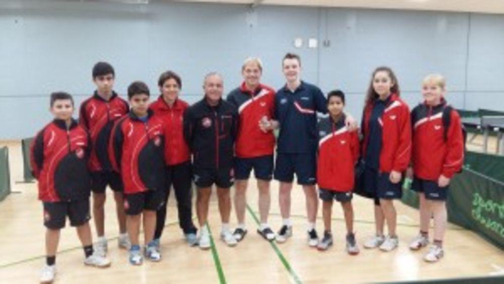 HiTT Academy team with the Iceland team winners of the Cadet Boys Singles