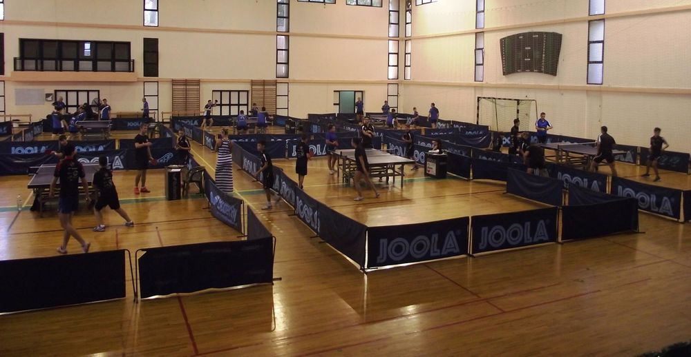 university gym table tennis