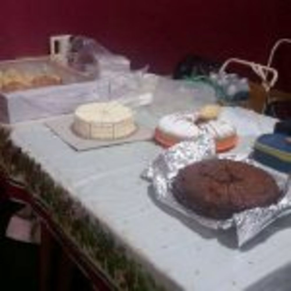 The lovely food donated by members and their families