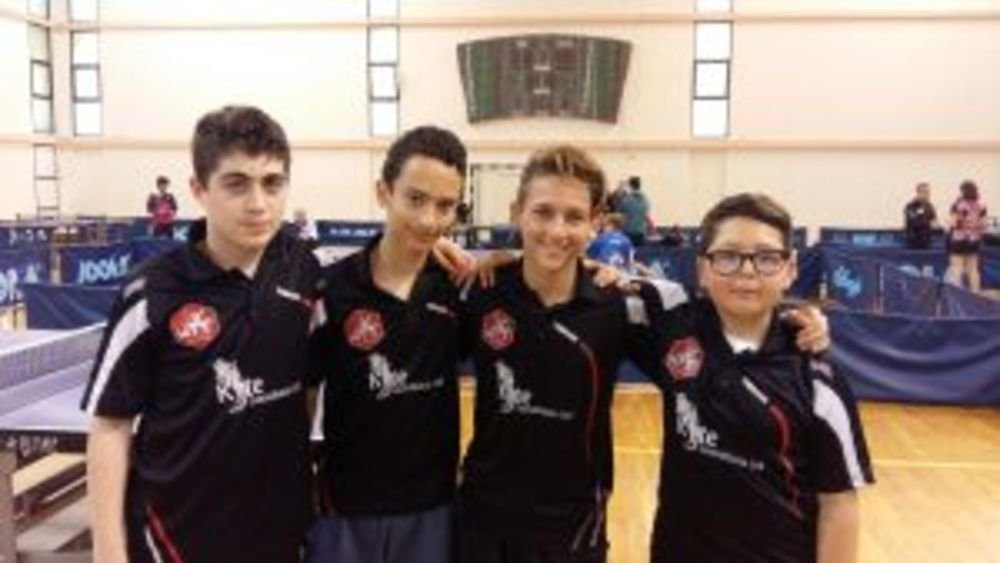 Under 15 Boys Doubles Plate - Aidan & Jake WINNERS - Paul & Mattija RUNNERS UP Malta
