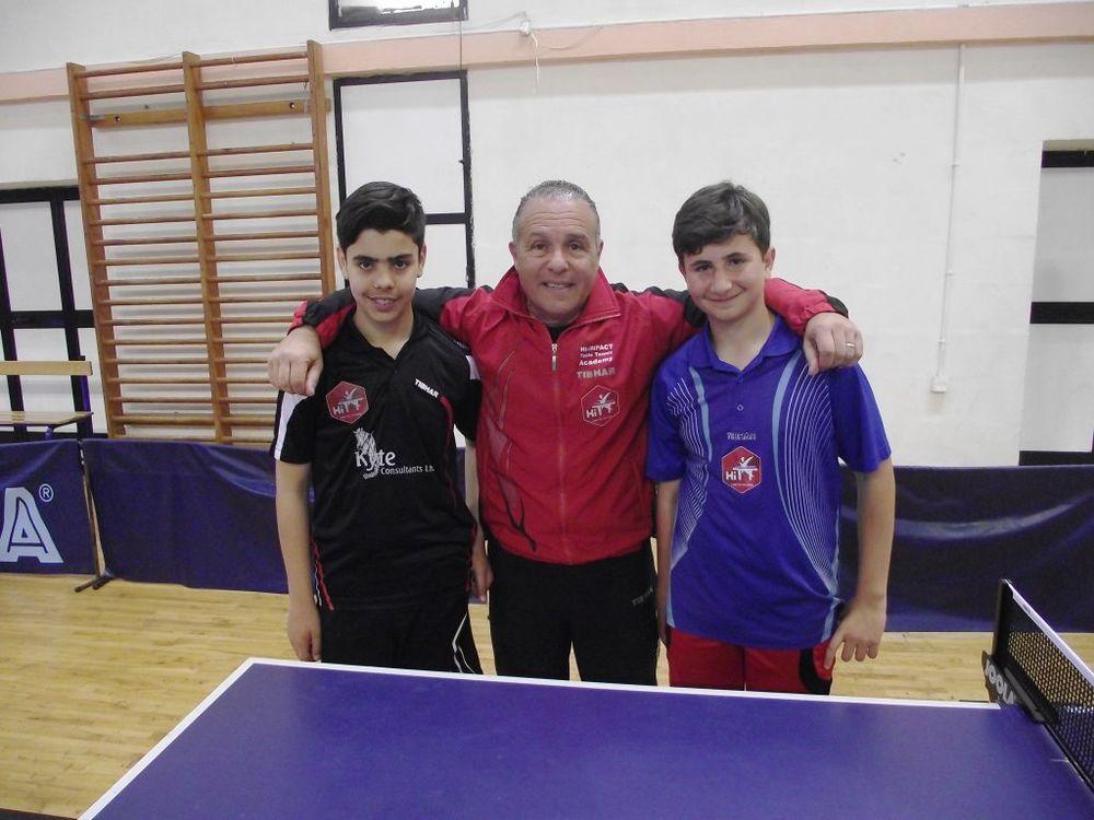 Under 15 Boys Doubles RUNNER UP Malta