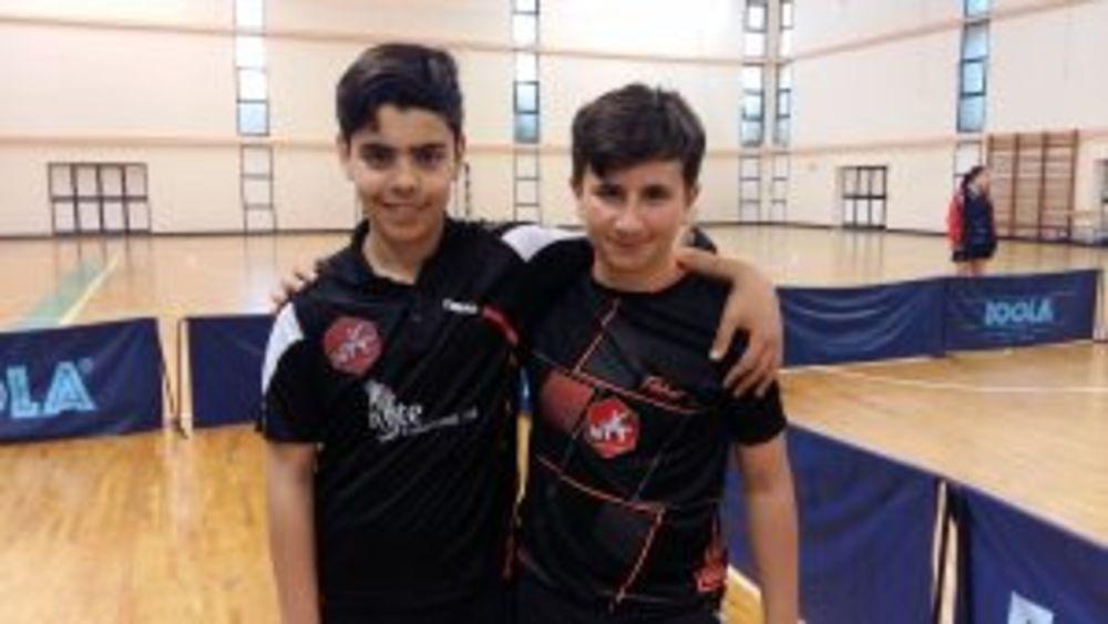 Under 21 Boys Doubles Plate WINNERS Malta