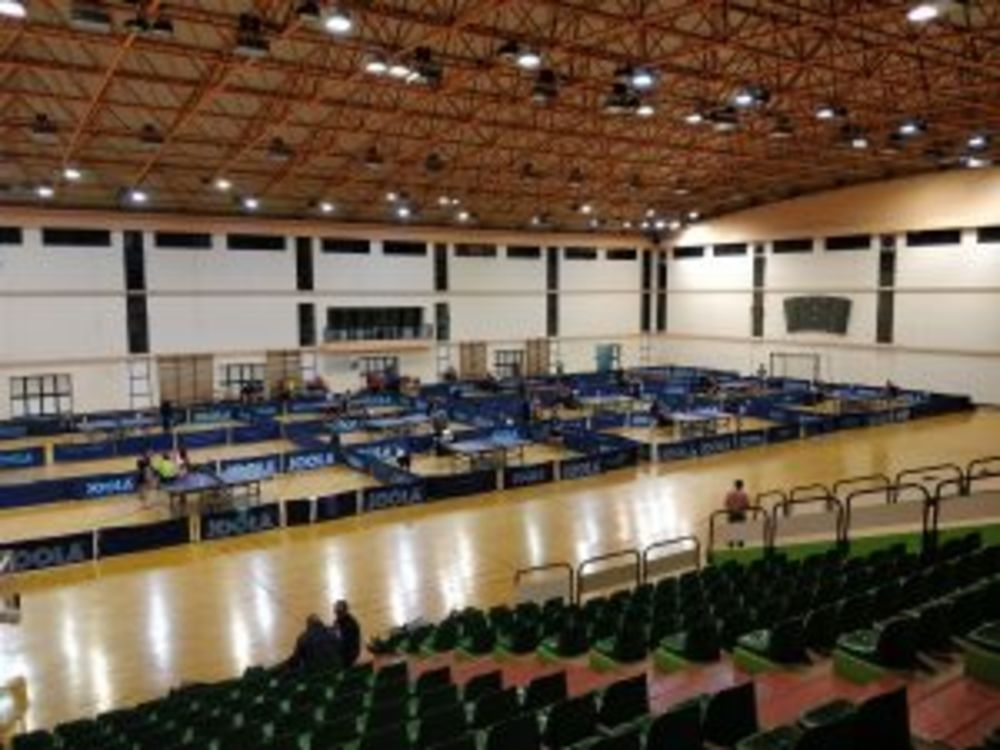The table tennis hall at the National Sports Complex in Tal-Qroqq