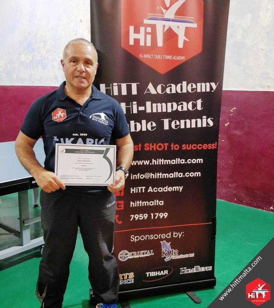 Mario Genovese ITTF Level 2 Certificate