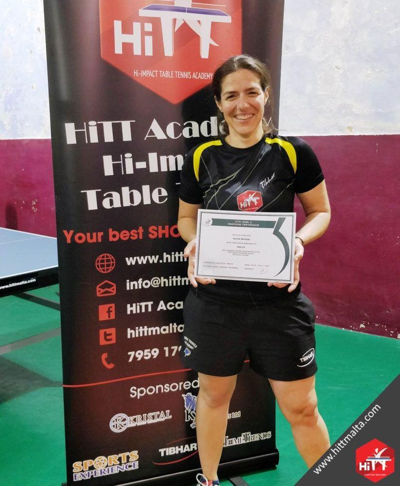 Katia Mifsud ITTF Level 2 Certificate