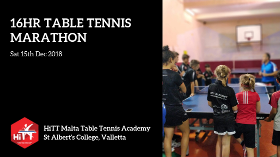 Istrina 2018 - HiTT Academy organises table tennis marathon for charity