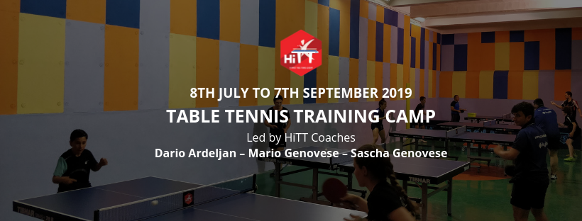 HiTT Malta Table Tennis Academy Summer Training 2019