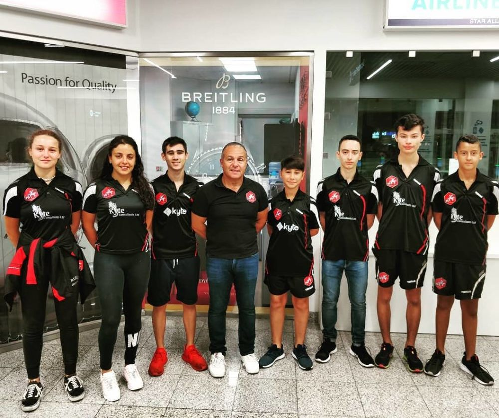 HiTT Malta Table Tennis Academy contingent travelling to Schiedam