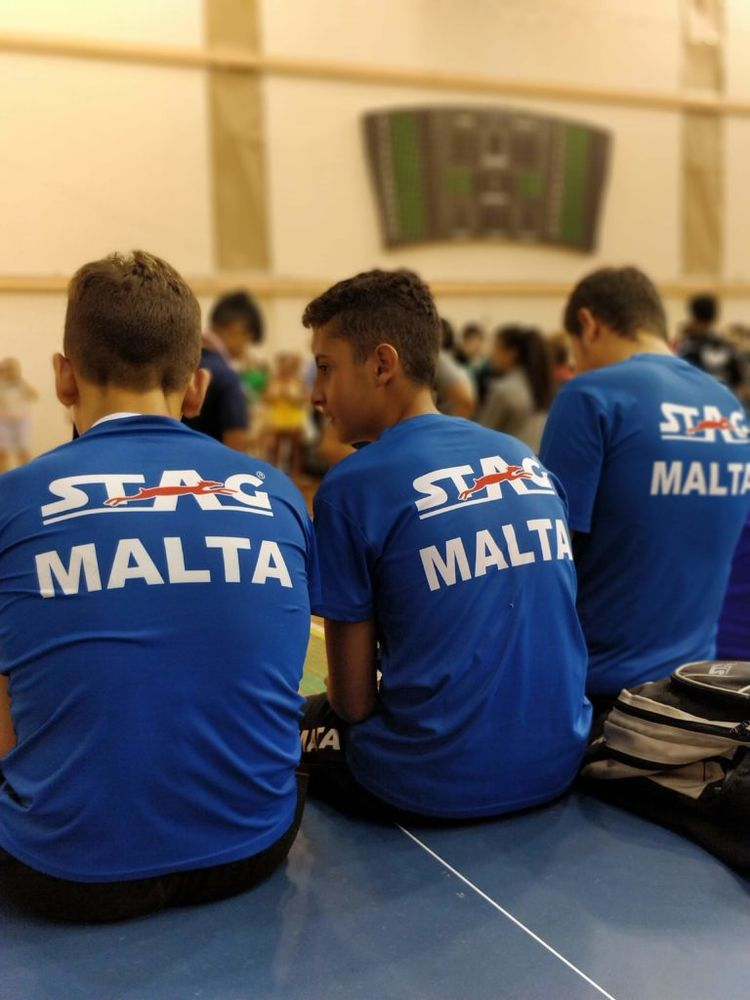 1st Malta International Table Tennis Tournament in history - Malta Cadet Boys team