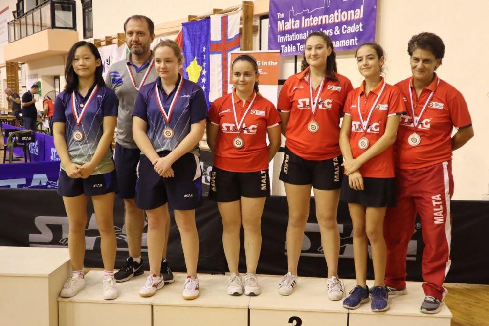 Girls Cadet Team – Bronze in Team Events
