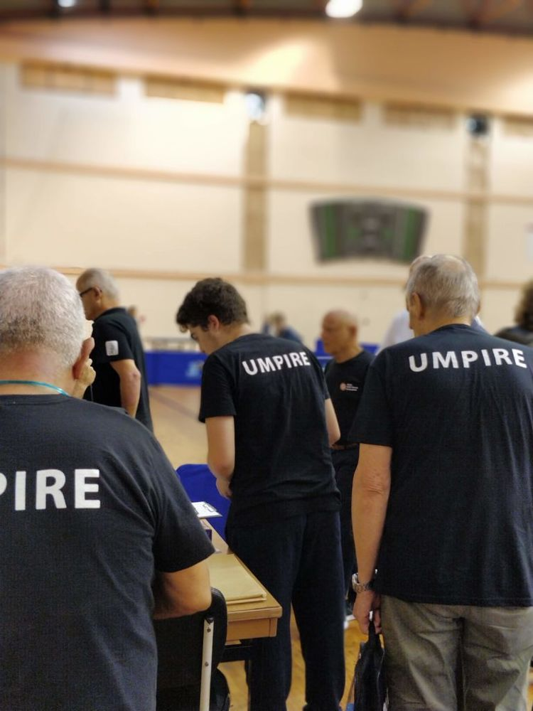 Volunteer Umpires during the 1st Malta International Table Tennis Tournament in history