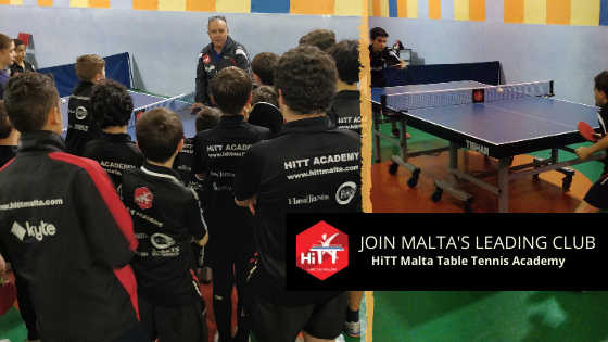 Table Tennis training for everyone from age 6 to adult